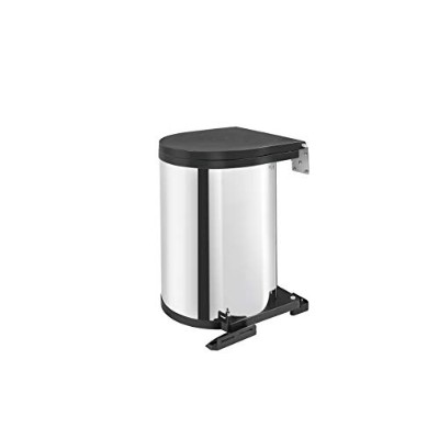 Rev-A-Shelf - 8-010314-15 - 15-Liter Stainless Steel Pivot-Out Under Sink Waste Container by Rev-A...