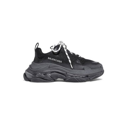 バレンシアガ Balenciaga レディース シューズ・靴 スニーカー【Triple S Clear Sole logo-embroidered leather, nubuck and mesh...