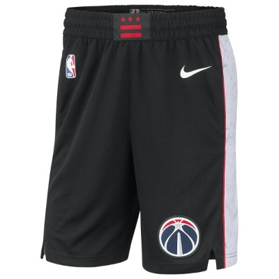 ナイキ Nike メンズ バスケットボール ボトムス・パンツ【NBA City Edition Swingman Shorts】NBA Washington Wizards Black