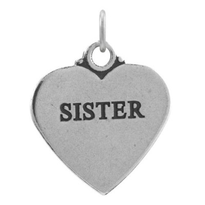 TheCharmWorks Sterling Silver Sister Heart Charm
