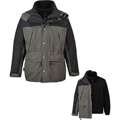 Portwest US532 4XL Orkney 3-in-1 Breathable Rainwear Jacket, Grey - Regular