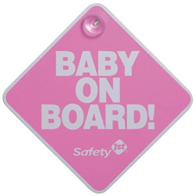 Safety 1st Baby On Board Sign, Pink by Safety 1st