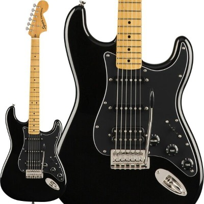 Squier by Fender 《スクワイヤーbyフェンダー》 Classic Vibe '70s Stratocaster HSS (Black/Maple Fingerboard)【g_p5】