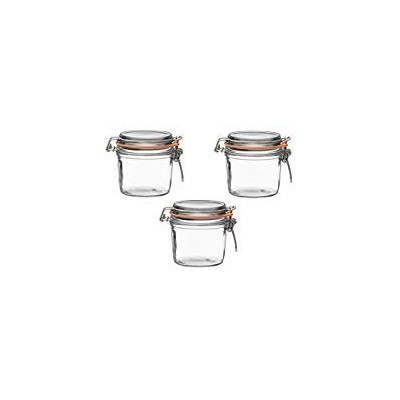 (350 Grammes (Pack of 3)) - Le Parfait French Terrines Wide Mouth Glass Canning Jar with 85mm...