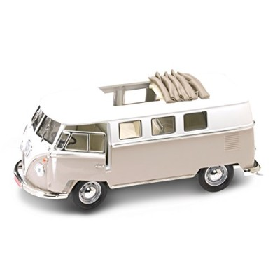 1962 Volkswagen Microbus Orange With Retractable Roof 1/18 by Road Signature 92327