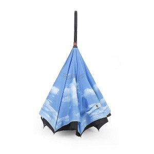 逆さ傘 カサ 晴雨兼用 紫外線カット NEWBRELLAs Unique Inverted Drip Free Vehicle Reflective Strip Safety Car Umbrella - Anti-uv Sun And Rain Umbrella