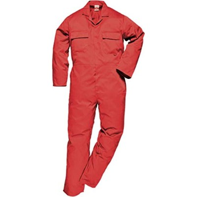 Portwest S999RERS Euro Work Boilersuit44; Red44; Small