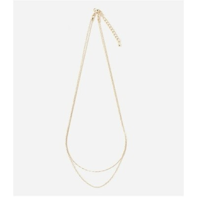 AZUL by moussy DOUBLE CHAIN SIMPLE NECKLACE アズールバイマウジー アクセサリー