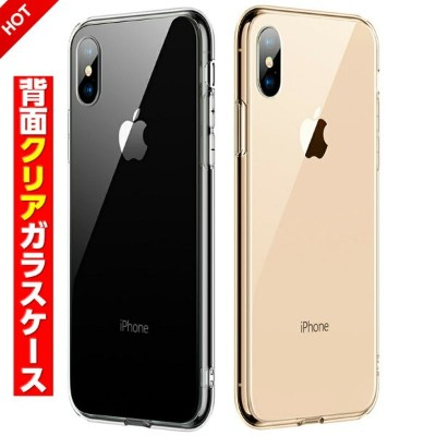 iPhone XR ケース iPhone XS MAX XS iPhone8 ケース iPhone7 ケース iPhone X ケース クリアタイプ 透明 背面ガラスケース iphone7 plus...
