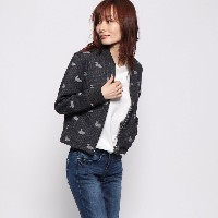 【SALE 64%OFF】コエ koe outlet WOMENS DUCK STRIPE JACKET (ライトグレー杢)