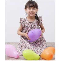 【SALE 14%OFF】ROPE' PICNIC KIDS 【ROPE' PICNIC KIDS】小花ワンピース(レッド(60))【返品不可商品】