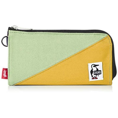 [チャムス] Zipper Long Wallet Sweat Nylon CH60-2687-M060-00 H.Jade/Yellow