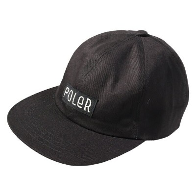POLeR(ポーラー) FURRYFONT 6PANEL CAP BLACK 55100003-BLK