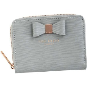 【SALE 19%OFF】テッドベーカー TED BAKER TEXTURED SML ZIP PURSE (GREY) レディース