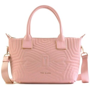 【SALE 20%OFF】テッドベーカー TED BAKER QUILTED BOW SMALL NYLON TOTE (DUSKY PINK) レディース