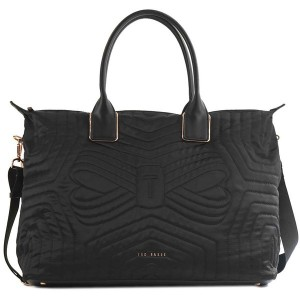 【SALE 20%OFF】テッドベーカー TED BAKER QUILTED BOW LARGE NYLON TOTE (BLACK) レディース