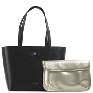 【SALE 20%OFF】テッドベーカー TED BAKER BOW DETAIL SMALL SHOPPER (BLACK) レディース