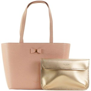 【SALE 20%OFF】テッドベーカー TED BAKER BOW DETAIL SMALL SHOPPER (LT-PINK) レディース