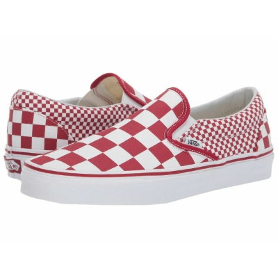 (取寄)Vans(バンズ) スニーカー クラシック スリップ メンズ Vans Men's Classic Slip (Mixed Checker) Chili Pepper/True White