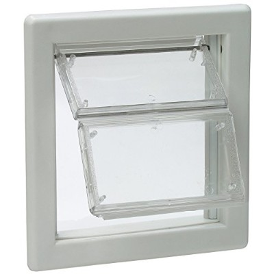 """Ideal Pet Products Air Seal Pet Door with Telescoping Frame, Small, 6.63"""" x 7.25"""" Flap Size 141..."""
