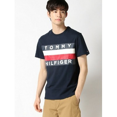 TOMMY HILFIGER TOMMY HILFIGER(トミーヒルフィガー) 【WEB限定】UPSTATE FLAG TEE ロゴカットソー Tシャツ メンズ トミーヒルフィガー カットソー...