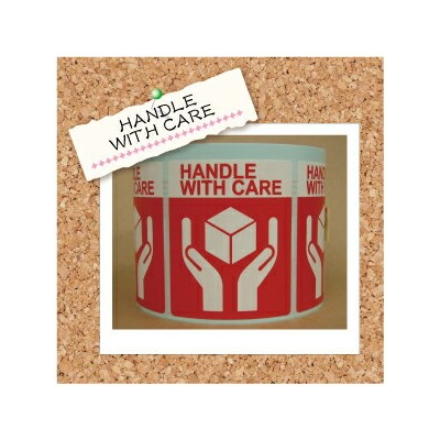 荷札ロール【HANDLE WITH CARE】