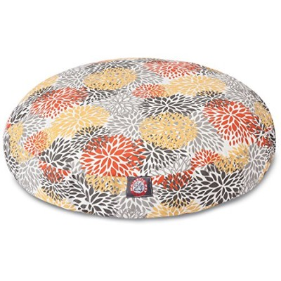 Majestic Pet Citrus Blooms Medium Round Pet Bed 141[並行輸入]