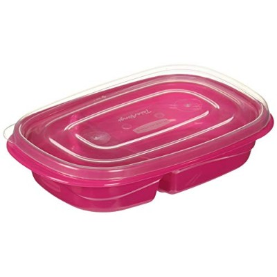 Rubbermaid 3.7 Cup Take Along On-the-Go Sandwich Food Storage Container , Assorted Colors by...
