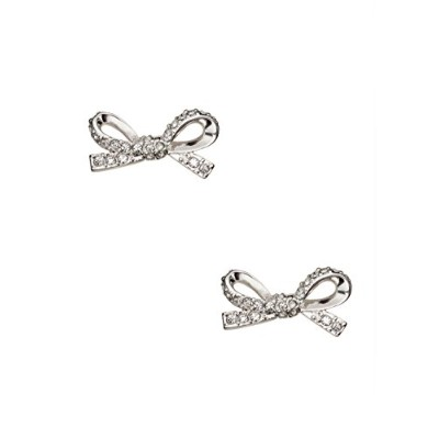 Kate Spade New York Skinny Mini Pave Bow Studsクリア/シルバー