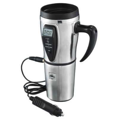 Stainless Steel Electric Smart Mug with Temperature Control by Tech Tools