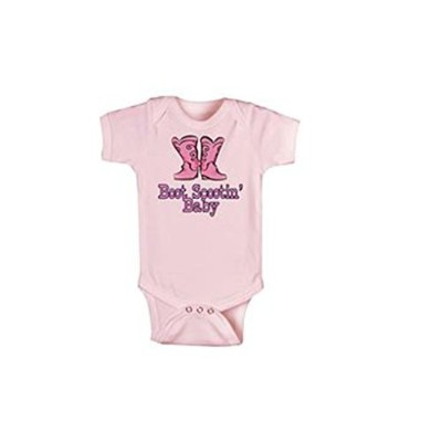 Boot Scootin' Baby Pink Infant One Piece Bodysuit by World-Accents