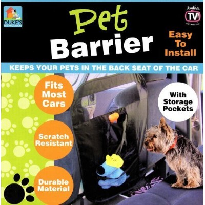 Duke's Auto Pet Barrier with Storage Pockets by Dukes