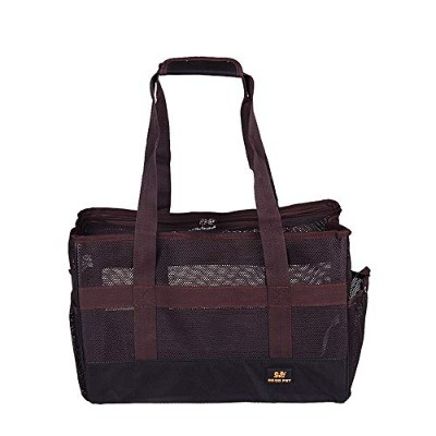 LAADF UzdcG ポータブルペット用トートバッグ (Color : Brown, Size : L)