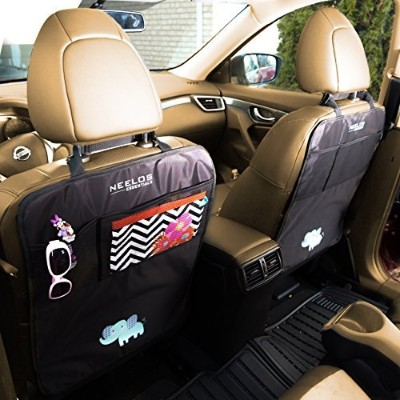 Superior Kid-Friendly, Kick Mats With Organizer, - Car Seat Back Protectors, with FREE GIFT - Best...