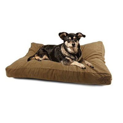 (XL, Suede) - 4 Pets DIY Dog Cushion Cover Pet Mat Case Do It Yourself-Cover Only
