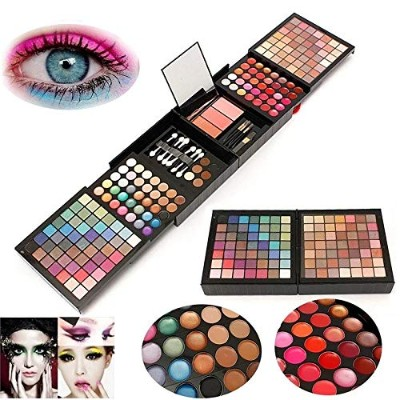 Makeup Set 177 Color Eyeshadow Shimmer Concealer Foundation Eyebrow Contour Blush Lip Gloss Palette...