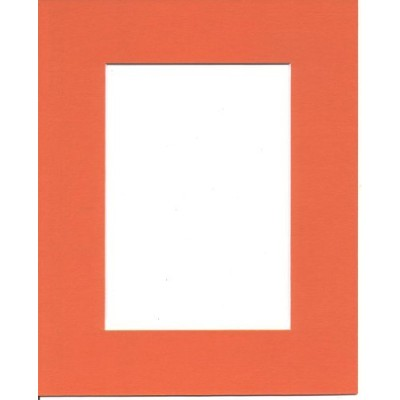 20x24 Orange Picture Mats with White Core Bevel Cut for 16x20 Pictures