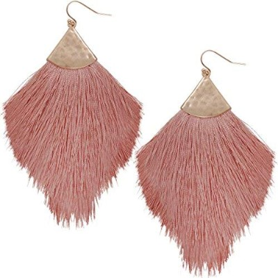 Humble Chic Fringe Tassel Statement Dangle Earrings - Lightweight Long Strand Drop Earrings