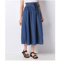 【SALE 40%OFF】actuelselect 【Lee】TUCK SKIRT(ブルー)【返品不可商品】