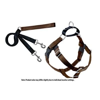 Freedom No-Pull Dog Harness Training Package - 1 Medium Brown by Wiggles Wags Whiskers
