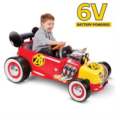 Disney Mickey Roadster Racer ディズニー ミッキー ロードスター レーサー バッテリーカー6V Powered Ride On by Huffy Battery キッズ...
