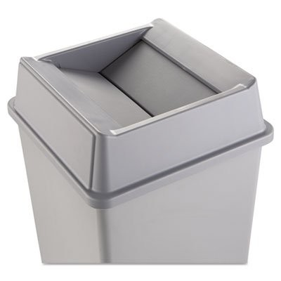 Rubbermaid Commercial rcp2664gray Swing Top Lid for Square WasteコンテナPlast、 グレー
