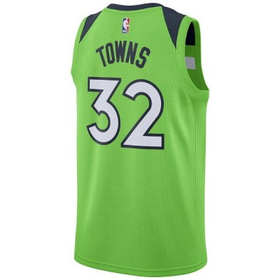 ナイキ Nike メンズ バスケットボール トップス【NBA Swingman Jersey】NBA Minnesota Timberwolves Karl-Anthony Towns Action...