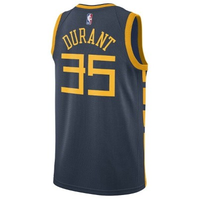 ナイキ Nike メンズ バスケットボール トップス【NBA City Edition Swingman Jersey】NBA Golden State Warriors Kevin Durant...