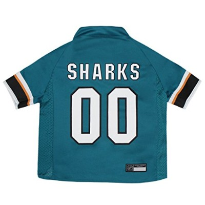 NHL SAN Jose Sharks Jersey for Dogs & Cats, Small. - Let Your Pet be a Real NHL Fan! 141[並行輸入]