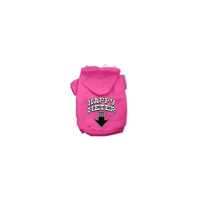 Happy Meter Screen Printed Dog Pet Hoodies Bright Pink Size XL (16)