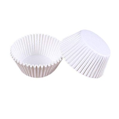 (White) - Lautechco 100pcs Muffin Cupcake Paper Cups Oil-proof Chocolate Paper Tray Cake Baking...