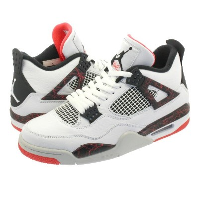 【ビッグサイズ】 NIKE AIR JORDAN 4 RETRO ナイキ エアージョーダン 4 レトロ WHITE/BLACK/LIGHT CRIMSON/PALE CITRON 308497-116