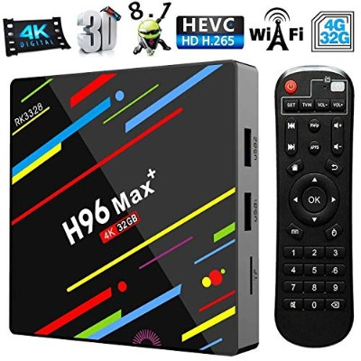 Timmery h96 max スマートボックス Android 8.1 4G 32G 4K 2.4G 5GデュアルWiFi TVボックス