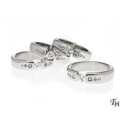 SET OF 4 SILVER PLATED DIAMOND BAND NAPKIN RINGS
